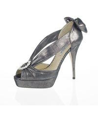 Oscar de la Renta Gathered Strap Detail Sandal - Lyst