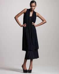 The Row Long Sheer-panel Vest - Lyst