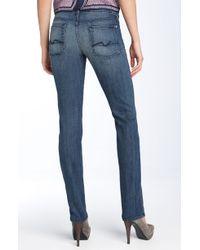 7 For All Mankind Roxanne Skinny Stretch Jeans (medium Indigo) - Lyst