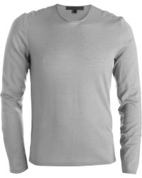 John Varvatos - Stitched Elbow Patch Sweater - Lyst