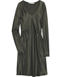 Clemens en August Ruched Silk-satin Dress - Lyst