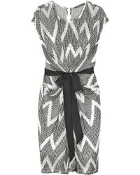 Thurley Sequined Zigzag Chiffon Dress gray - Lyst