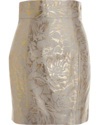 L'Wren Scott Brocade Mini Skirt - Lyst