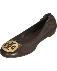 Tory Burch Reva Leather Ballet Flat - Lyst