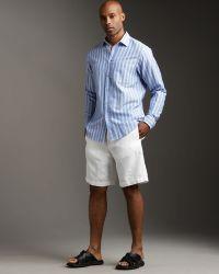 Zegna Sport - Linen Drawstring Shorts, White - Lyst