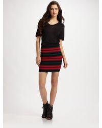 Pleasure Doing Business Striped Stretch Mini Skirt - Lyst