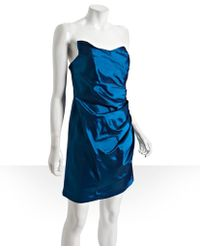Alexia Admor  Taffeta Draped Strapless Dress - Lyst