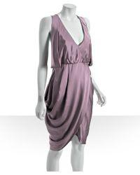 Laila Azhar - Blush Silk V-neck Tulip Dress - Lyst