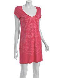 Lucky Brand - Pink Cotton Marching Elephants Sleep Dress - Lyst