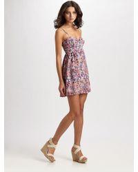 Parker Baby Doll Bustier Dress - Lyst
