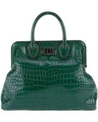 Zagliani Emerald Crocodile Bag - Lyst