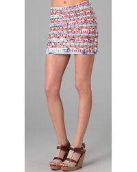Gryphon - Stitch Miniskirt - Lyst