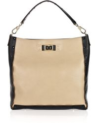Anya Hindmarch Coburn Two-tone Leather Tote - Lyst