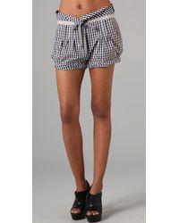 L.A.M.B. - Gingham Drawstring Shorts - Lyst