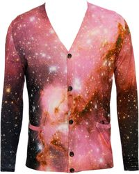 Christopher Kane Galaxy-print Silk-cashmere Knit Cardigan - Lyst