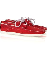 NDC - Alithia Nubuck Boat Shoes - Lyst