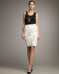 Naeem Khan | Rosette Pencil Skirt | Lyst