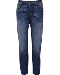 Current/Elliott The Pony Boy Low-rise Cropped Jeans - Lyst
