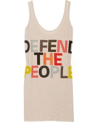 Sass & Bide Take To The Streets Cotton and Linen Blend Tank Dress - Lyst