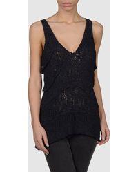 Donna Karan New York Sleeveless Sweater - Lyst