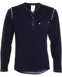 Garbstore Three Quarter Sleeve Henley - Lyst