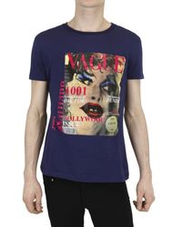 John Galliano Vague Print Jersey T-shirt - Lyst