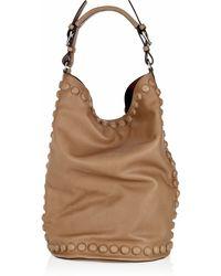 Marni Stud-trimmed Leather Shoulder Bag - Lyst