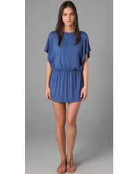 Tibi - Flutter Sleeve Cover Up Dress - Lyst
