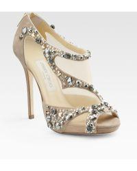 Jimmy Choo Embellished Open-toe Sandals - Lyst