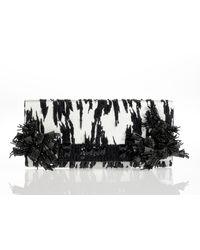 Oscar de la Renta Embroidered Roll Clutch - Lyst
