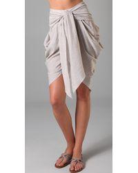 Jen Kao - Sand Phantom Tie Shorts - Lyst