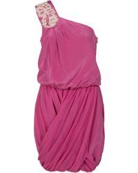 Tibi Farrah Beaded One Shoulder Dress - Lyst