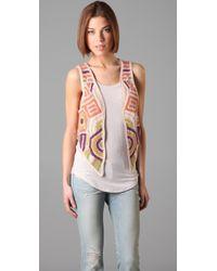 Twenty8Twelve - Amelie Crochet Vest - Lyst