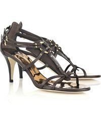 Giuseppe Zanotti Taz Strappy Leather Sandals - Lyst