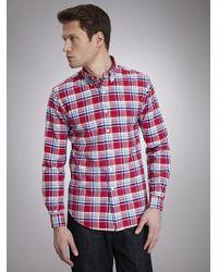 Polo Ralph Lauren Slim-Fit Checked Linen Shirt - Lyst