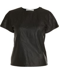 Rodarte x Opening Ceremony Leather Tee - Lyst
