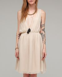 girl. by Band of Outsiders Solid Silk Alana Dress - Lyst