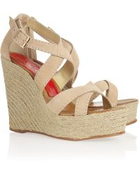 Paloma Barceló America Suede Espadrille Wedge Sandals - Lyst