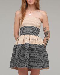 Pleasure Doing Business | Strapless Mini Dress Top | Lyst