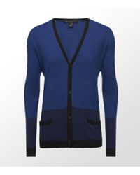 Marc By Marc Jacobs - Blue Silk Cotton Cashmere Colour Block Cardigan - Lyst