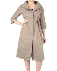 Nina Ricci Cotton Double Face Trench Coat - Lyst