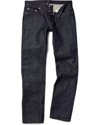 A.P.C. New Standard Straightleg Selvedge Denim Jeans - Lyst