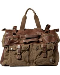 Belstaff | Canvas and Leather Holdall Bag | Lyst