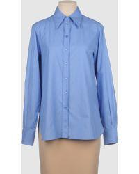 Yves Saint Laurent Rive Gauche Long Sleeve Shirt - Lyst