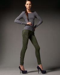 Rock & Republic - Teddie Slouch Skinny Jeans, Olive - Lyst