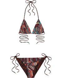 Missoni Mare Guascogna Printed String Bikini - Lyst