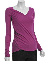 Rebecca Beeson | Stiletto Cotton Modal Wrapped Long Sleeve Top | Lyst