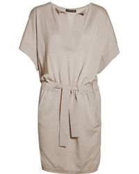 Anna Molinari - Belted Wool-blend Sweater Dress - Lyst