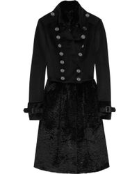 Burberry Prorsum Wool-blend and Rabbit Coat - Lyst