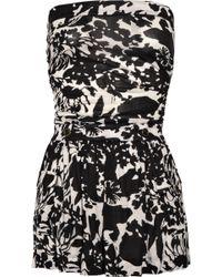 Diane von Furstenberg Zoe Printed Silk Jersey Dress black - Lyst
